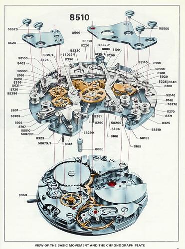 Internals of a watch