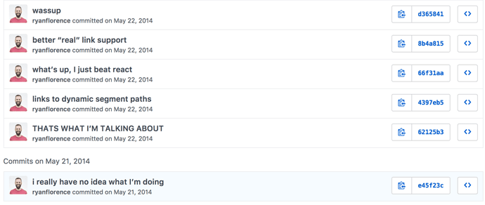 React Router's first commits