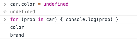 Iterate over the object