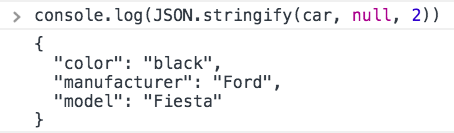Combine console.log with JSON.stringify